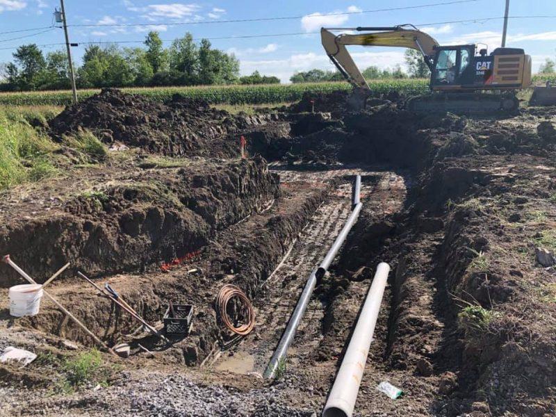 Installation de fosse septique sur la Rive-Sud de Montréal